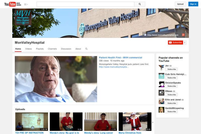 Monongahela Valley Hospital YouTube Channel
