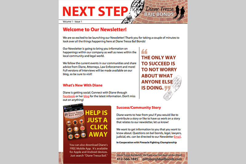 Diane Tressa Bail Bonds Next Step E-mail Newsletter