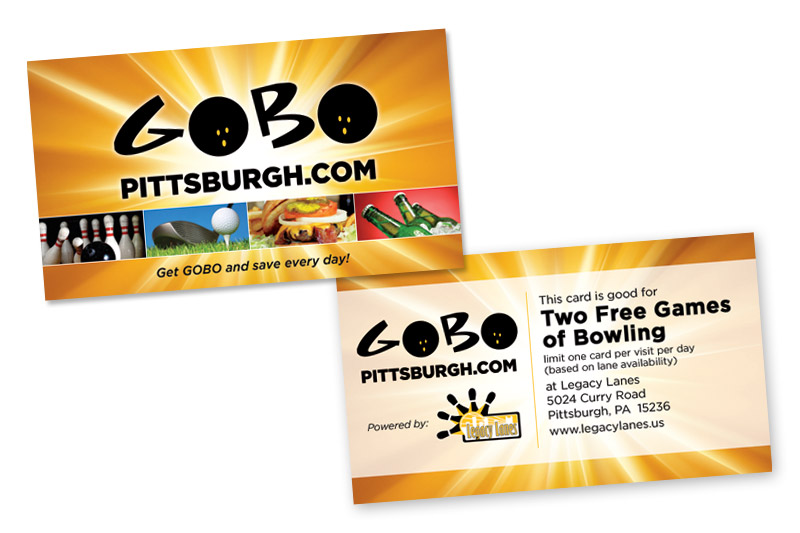 GOBO Pittsburgh Coupon Card