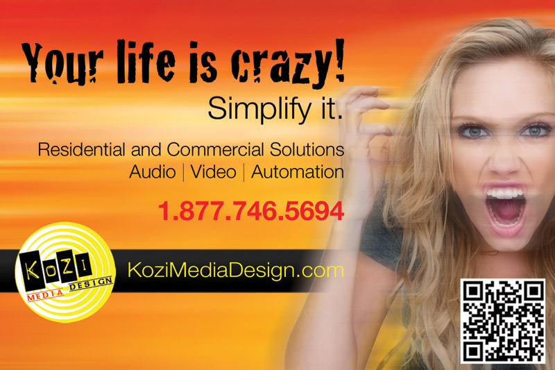 Kozi Media Design Tabletop Ad